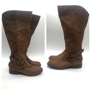 Madden Girl Faux Leather Boots